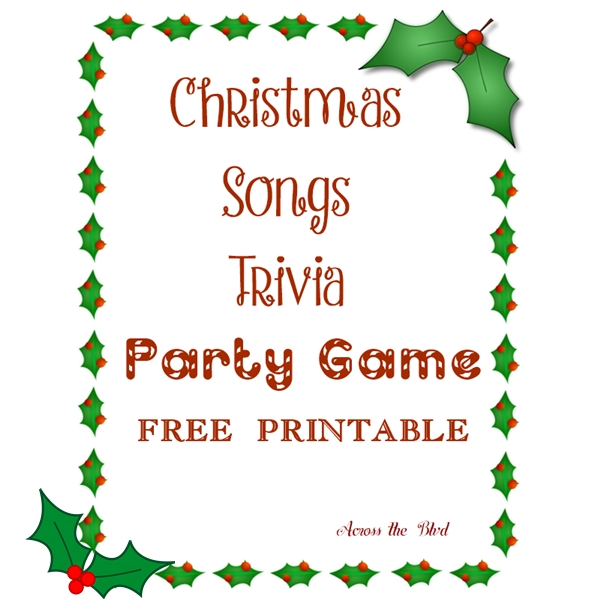 Christmas Song Trivia Party Game