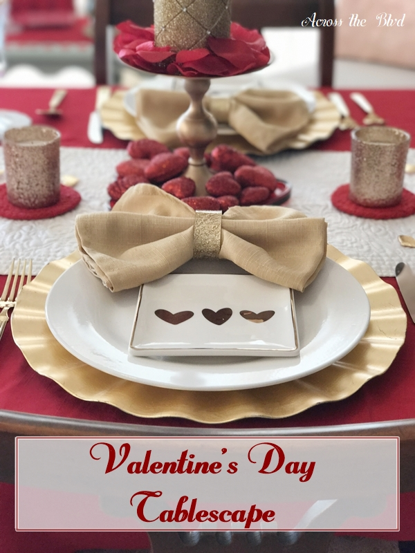 Valentine's Day Tablescape for a Stay at Home Date Night
