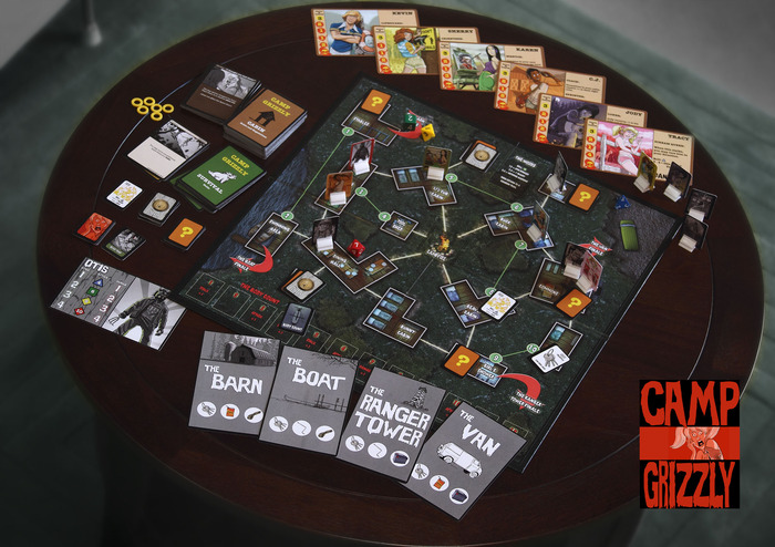 Camp Grizzly Board Game