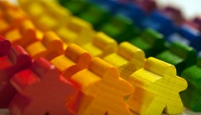 rainbow meeples