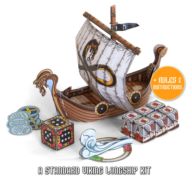 Viking Horde Kickstarter Board Papercraft Game