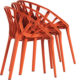 China Replica Outdoor Stackable Plastic Vitra Vegetal Chair
