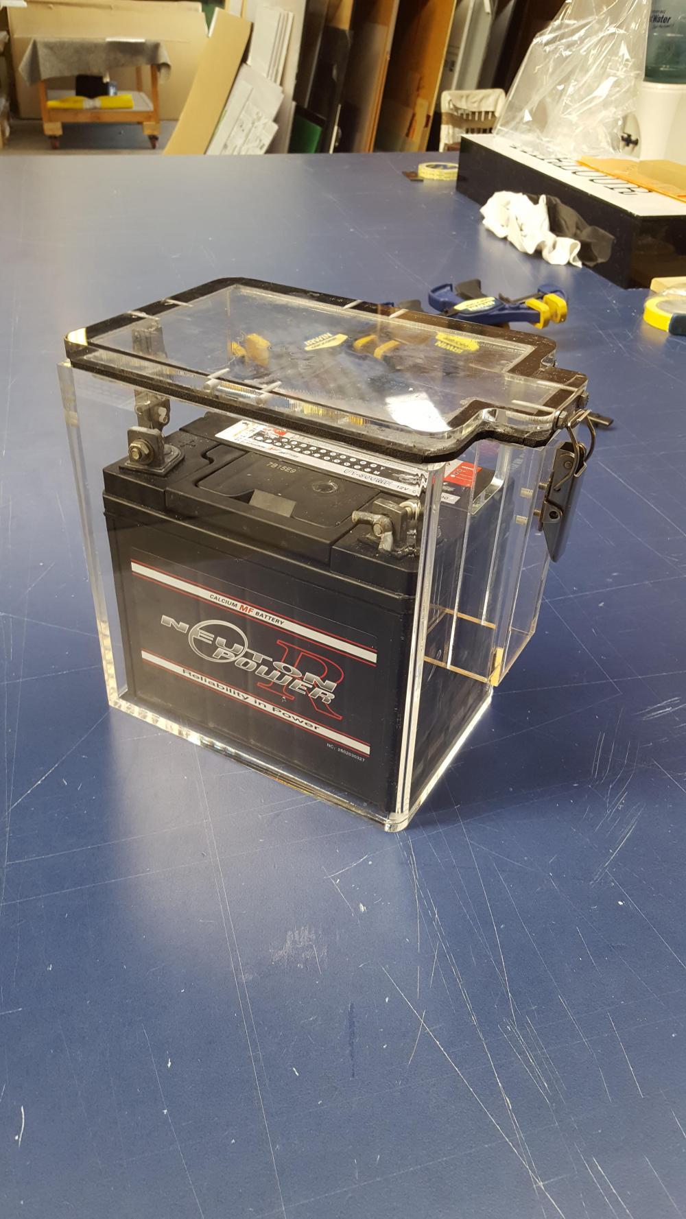 medium resolution of pontoon boat battery drybox
