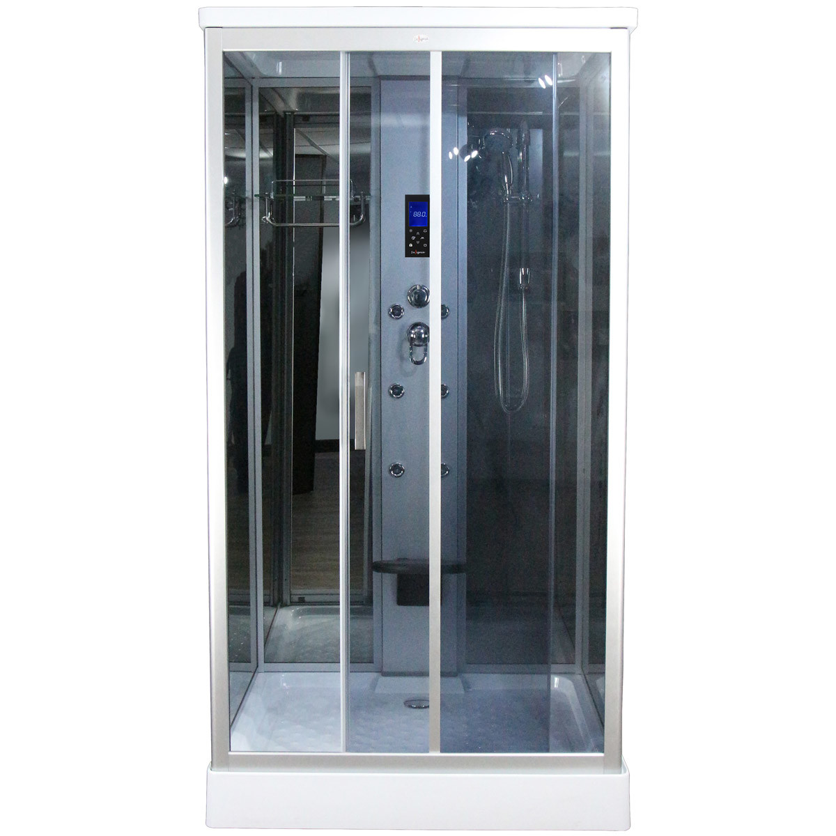 Claasic Steam Shower Whirlpool Bath Combination Square