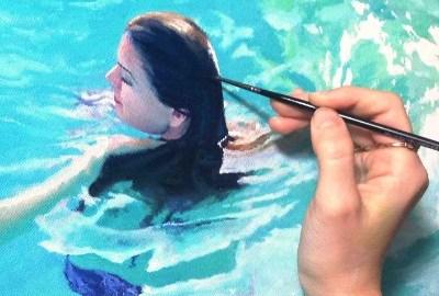 Water schilderen met acrylverf