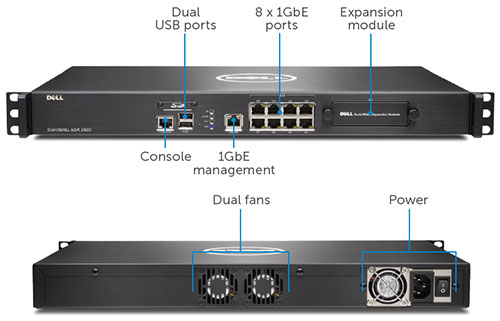 Dell SonicWALL network security firewall