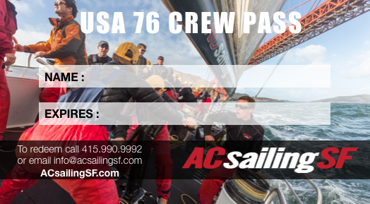 Annual Crew Pass With Unlimited San Francisco Bay Sailing