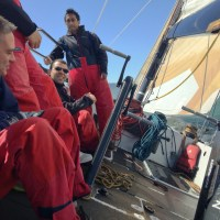 Heeling on USA76 Carbon Fiber America's Cup Yacht
