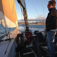 Crew on USA 76 on San Francisco Bay