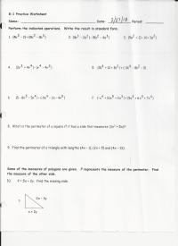 8 1 Adding And Subtracting Polynomials Worksheet Answers ...