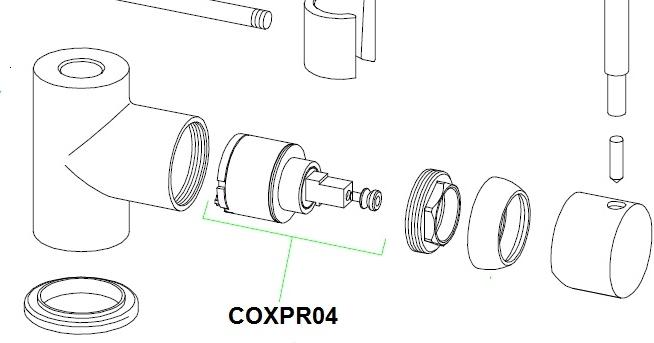 cartouche ceramique coxpr04 pour mitigeur franke coxy