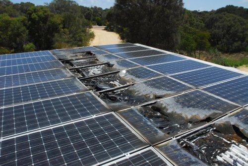 small resolution of burnt solar array 7 1216fa haddon2 panel fire 1