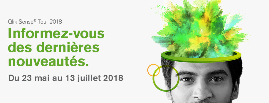 Réservez votre place dès aujourd'hui ! Qlik Sense Tour 2018 à Lille le 26 Juin