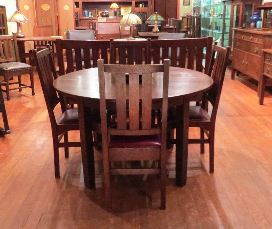 Set Of 4 Gustav Stickley Harvey Ellis Designed Dining
