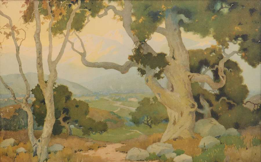 Vintage Marion Wachtel Print The Oaks c1910  California