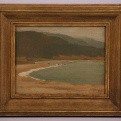 Beach Chair Sale Best Ergonomic Executive Office Hunter C. Barr Tonalist Painting Of Stinson Beach, Ca | California Historical Design