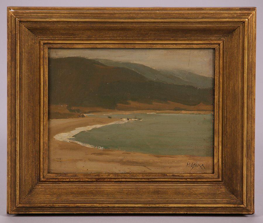 air chair frame best value computer hunter c. barr tonalist painting of stinson beach, ca | california historical design