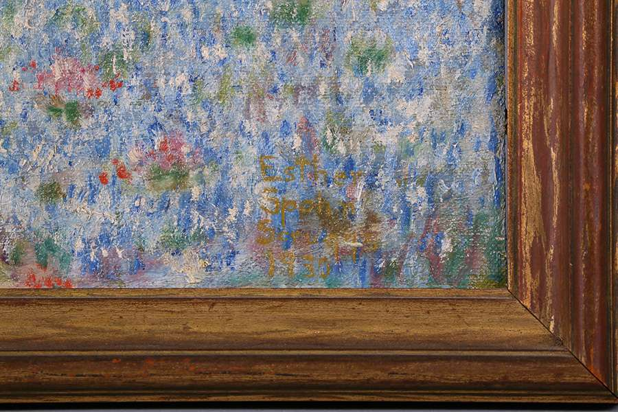 Esther Spahn Scruggs Painting Of Texas Bluebonnet