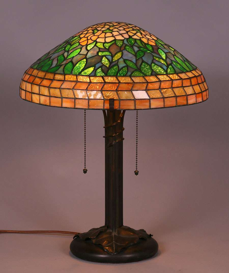 Riviere Studios Leaded Glass Lamp c1910  California