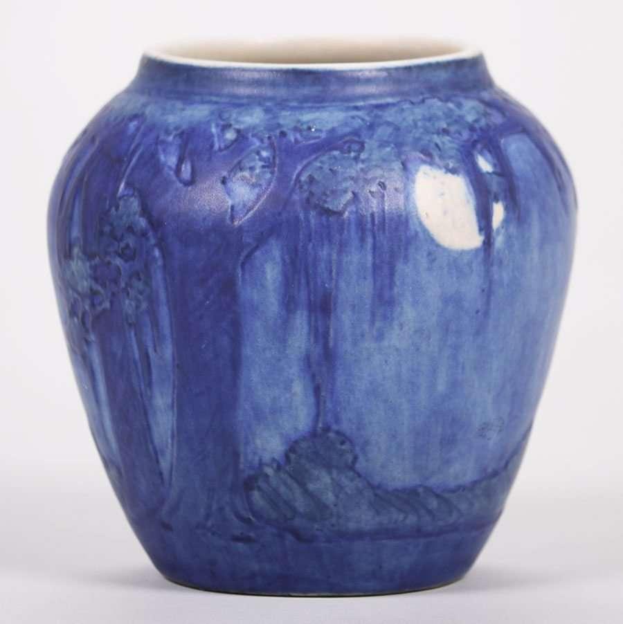 Newcomb College Scenic Vase Henrietta Bailey  California