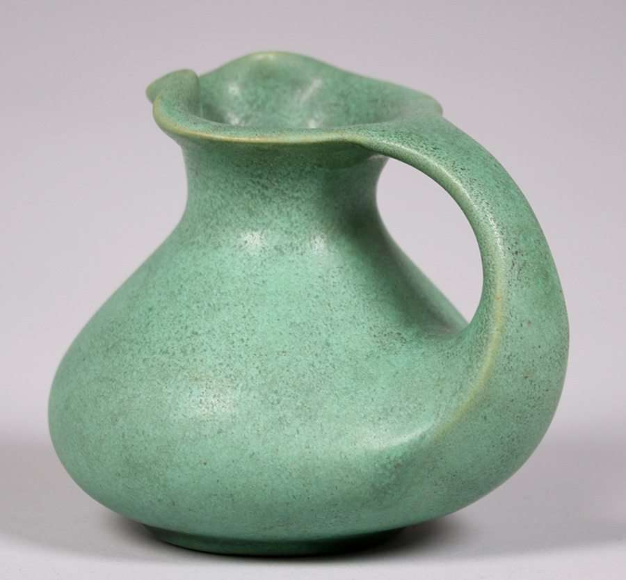 Teco Pottery Matte Green Pitcher  California Historical