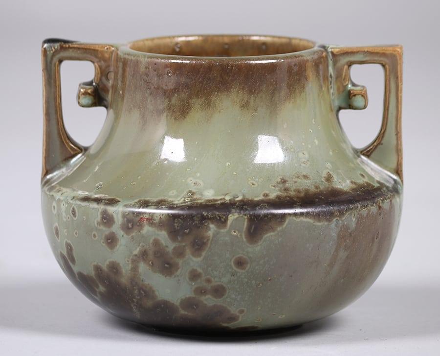 Fulper Pottery TwoHandled Vase  California Historical Design