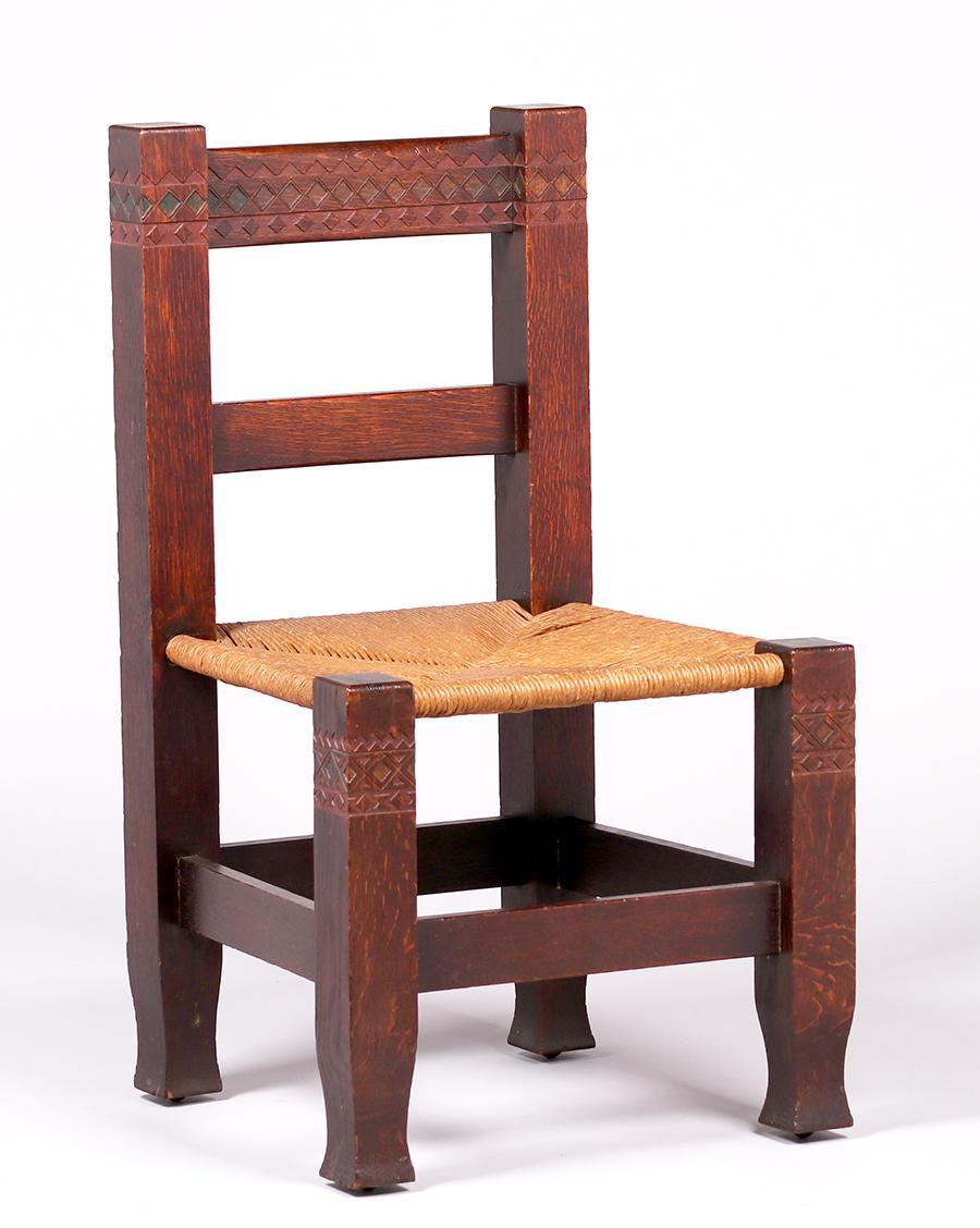 McHugh Furniture Co Maybeck Side Chair c1898-1902 | California Historical Design