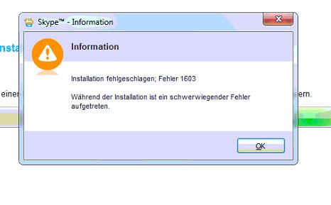 Gelöst: Skype lässt sich nicht installieren - Ungültiges Laufwerk - A.C.T. Computer