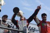 El podio para la carrera de pilotos titulares del TC Mouras. Foto:Dario Gallardo.