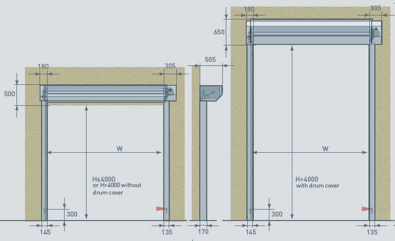 ACRD40 High Speed External ATEX Door Diagram