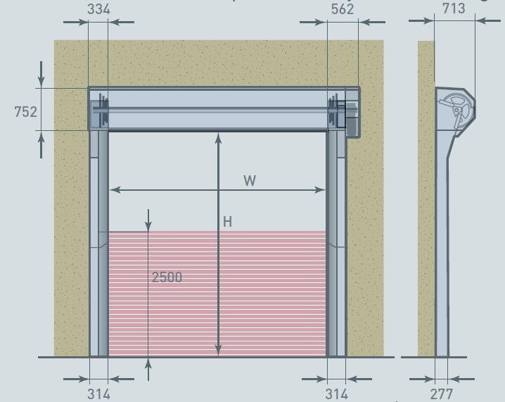 ACRD10 High Speed Rigid Door Diagram