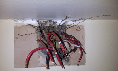 small resolution of behind a small consumer unit it s just wires really anyone know where they go