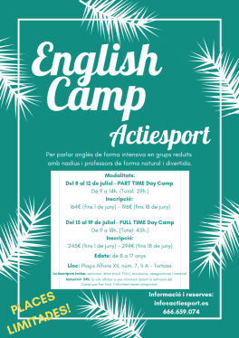 Cartell ENGLISH CAMP 2019 (oficial)