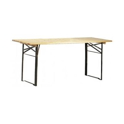 table pliante exterieure en bois verni