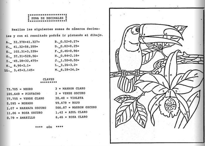 Sumas y resta con números decimales - Actiludis