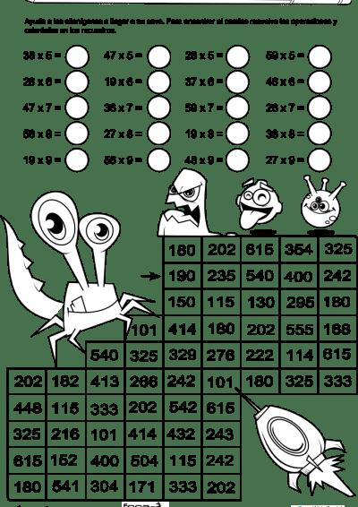 Resultado de imagen para ejercicios de multiplicacion sencillos