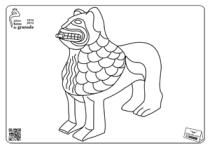 León Perfíl Fuente Patio de los Leones