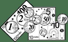 monedas y billetes €