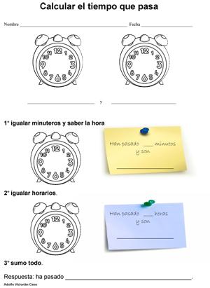 Ficha para calcular el tiempo que pasa-1