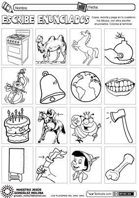 Enunciados y silabas 1 (segundo grado)