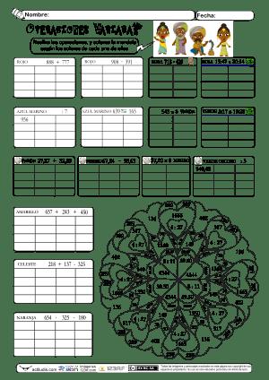 Operaciones Variadas-decimales-tiempo 06