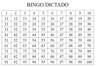 BINGO DICTADO