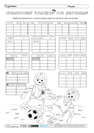 Operaciones Variadas-decimales-tiempo 09