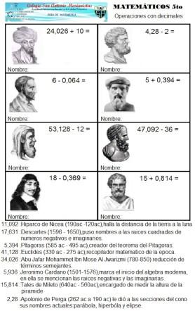 Matematicos 1 operaciones con decimales