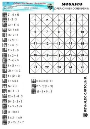 Mosaico - operaciones combinadas