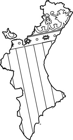 mapa comunidad valencia