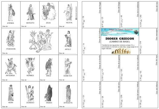Dioses griegos - cambio de base