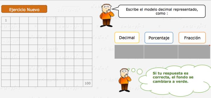 decimal fracción porcentaje