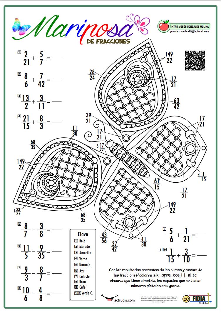 Mariposa de fracciones - Actiludis