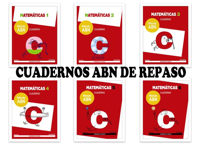 Cuadernos de repaso matemáticas ABN - Actiludis